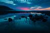 Bossington Blues. (tog@goldenhour) Tags: bossington exmoor uk rockpool lagoon saltmarsh nationalpark seascape bluehour canoneos70d canonefs1022mm tidal