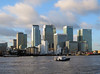 Winter Afternoon Sun On Canary Wharf! (RiverCrouchWalker) Tags: winterafternoonsunoncanarywharf canarywharf london riverthames boat clouds skyscrapers urbanbeauty uk greatbritain britain england towerhamlets architecture winter 2016 january thamespath