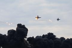 F16 dogfight (matgawron) Tags: f16 paf polish air force poland radom fight military show smoke power flare bullet