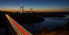 Bridging the gaps (Per-Karlsson) Tags: bridges bridge trails cartrails twilight sweden swedishwestcoast tjörn bohuslän bohuslan sea seascape water hakefjorden scandinavia dusk westcoast longexposure