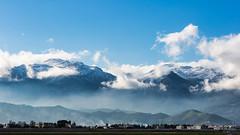 Une vue de chez moi. (Bouhsina Photography) Tags: montagne neige couleur bleu brillant aeroport tétouan martil maroc morocco tetuan hiver 2017 bouhsina bouhsinaphotography canon 5diii ef70200 paysage vue wow