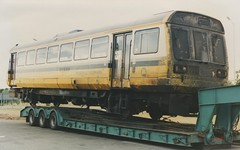 Chargrilled 142. 28/8/95 (Nick Wilcock) Tags: crewe railways m6 pacer dms dmu class142 merseyrail regionalrailways 55703 142053 jcn16