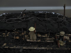 gas attack in the trenches (2) (Militarymocs) Tags: model lego trench ww1 diorama brickarms gibrick