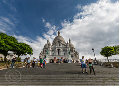 Paris June 2015 (3) 500 - The Sacre Coeur Basilica at Montmatre (Mark Schofield @ JB Schofield) Tags: people paris france tower church seine river french view traffic basilica eiffel coeur panoramic ladefense sacre cupola dome relaxed montparnasse commuters montmarte