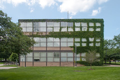 South elevation (See.jay) Tags: usa chicago building brick glass vertical horizontal architecture modern facade campus site illinois technology box steel perspective modernism plan ivy minimal institute master architect iit miesvanderrohe portal framing van minimalism elevation proportion der ludwig mies minimalist internationalstyle overgrowth modernist institutional rohe context rationalism siegel orthogonal illinoisinstituteoftechnology ludwigmiesvanderrohe flatperspective armourinstitute portalframe