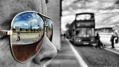 Perspective Perspective (Mark.L.Sutherland) Tags: city sky people blackandwhite bw detail macro reflection bus church girl sunglasses closeup clouds nose scotland highlands perspective streetphotography samsung smartphone phonecamera sutherland colorsplash inverness selectivecolour phonography androidography galaxys5