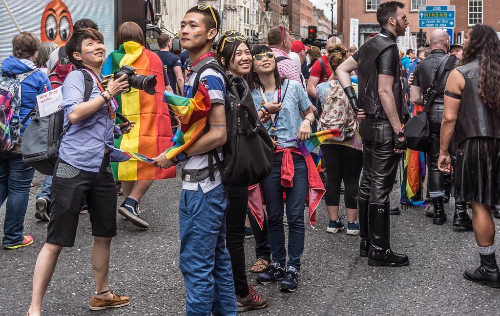 DUBLIN 2015 LGBTQ PRIDE FESTIVAL [PREPARING FOR THE PARADE] REF-106231