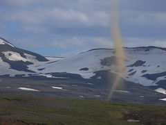 Dust Devil on Kjolur Pass (Pete Read) Tags: iceland pass devil dust kjolur