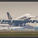 A380 beim Start in Frankfurt, 14.11.2012
