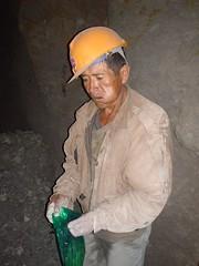 Miner chewing coca, Potosí, Bolivia