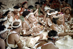 27-548 (ndpa / s. lundeen, archivist) Tags: costumes woman color men film festival fiji 35mm dance costume clothing women sitting song stage traditional nick group performance culture suva southpacific tradition 1970s 27 performers 1972 seated headdress dewolf oceania pacificartsfestival pacificislands festivalofpacificarts southpacificislands nickdewolf photographbynickdewolf festpac pacificislandculture southpacificfestival reel27 southpacificartsfestival southpacificfestivalofarts fiji72