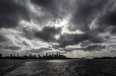 Clouds over Sydney (LSydney) Tags: sky clouds sydney sydneyharbour manlyferry