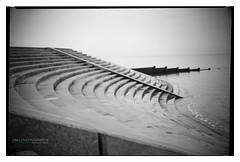 cleveleys_beach_conway_08 (D_M_J) Tags: cleveleys beach lancashire fylde coast north west uk england landscape seascape film camera medium format 120 roll 6x9 conway box ilford delta 100 pro rodinal r09 epson v850 black white bw blackandwhite mono monochrome