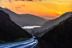 The Road Home (Nikki M-F) Tags: wales britain uk sunset road lake evening journey travel