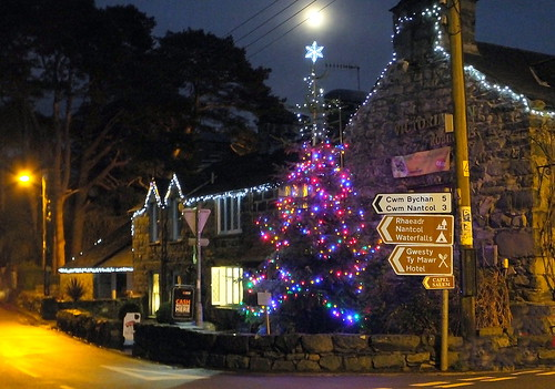 Christmas lights , Llanbedr Gwynedd