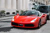 Ferrari 488 GTB. (demented_b) Tags: london supercar spoted spotting sloane street chelsea knightsbridge polarised 2016 car canon 700d qatar ferrari 488 gtb rosso corsa v8 twin turbo italian