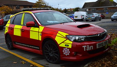 North Wales Fire & Rescue Service | Subaru Impreza WRX | BV10 YBY (Chris' 999 Pics) Tags: north wales fire and rescue service subaru impreza wrx officer car drivesafe drive safe roadsafe road firefighter fireman tan bv10yby