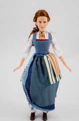 Film Collection Belle and Gaston Doll Set - Live Action Beauty and the Beast - Disney Store Purchase - Deboxing - Belle Deboxed - Free Standing - Full Front View (drj1828) Tags: us disneystore beautyandthebeast liveactionfilm 2017 belle disneyfilmcollection 12inch posable dollset blue peasant dress deboxed freestanding