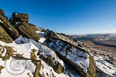 January Snow 2017 013 - Buckstones above Marsden (Mark Schofield @ JB Schofield) Tags: huddersfield pennines pennineway moors moorland peat nationalpark thenationaltrust marsden scammonden pulehill marchhaigh wessenden wessendenvalley meltham wessendenhead reservoir water watershed snow winter landscape bog rock ice outdoors open space panoramic canon 5dmk3 holmemoss mast