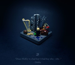 21 - The Unknowable Room (Melan-E) Tags: harry potter half blood prince magical journey room requirement malfoy horcrux vanishing cabinet harp lego afol toronto torolug