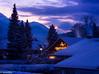 Coziness (brookis-photography) Tags: winter snow christmas christmaslights lights bluehour houses evening garmisch