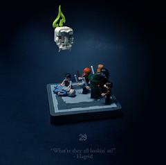 29 - The Phoenix Lament (Melan-E) Tags: harry potter half blood prince hogwarts dumbledore dark mark hagrid curse skull lego afol toronto torolug spring shooter