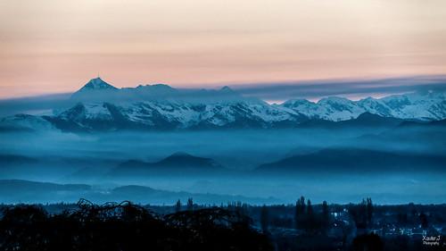 Pic du midi de Bigorre depuis le boulevard des Pyrenées Pau