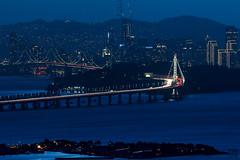 SF Skyline at Dusk (lycheng99) Tags: dusk sf sfbayarea sanfrancisco sanfranciscobayarea sanfranciscotravel sanfranciscobridges sanfranciscoskyline sfbaybridge howsfseessf bridges lights sunset bay longexposure