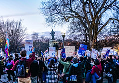 2017.02.22 ProtectTransKids Protest, Washington, DC USA 01089