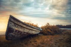 No Certain Place To Go (karenhunnicutt) Tags: abandonded boat time autumn weathered northshore minnesota lakesuperior karenhunnicuttphotography minneapolisfineartphotographer
