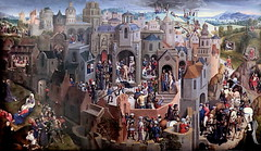 IMG_2103E Hans Memling .1430-1494.Bruges. La Passion du Christ. the Passion of Christ. vers 1470. Turin Sabauda. (jean louis mazieres) Tags: peintres peintures painting musée museum museo italie turin torino sabauda hansmemling