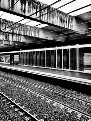 Metro station, Rome, Italy. Metro Railroad Station Transportation Rail Transportation Railroad Station Platform Public Transportation No People IPhoneography Monochrome Black And White Monochrome Photography Blackandwhite Rome Italy City Architecture Meta (Massimo Virgilio - Metapolitica) Tags: metro railroadstation transportation railtransportation railroadstationplatform publictransportation nopeople iphoneography monochrome blackandwhite monochromephotography rome italy city architecture metapolitica