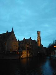 Bruges by dusk. (pierre.paklons) Tags: belgium bruges brugge belfort beffroi halletoren