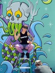 Lunch Break (Eddie C3) Tags: newyorkcity streetart art graffiti graffitiartist astoriaqueens wellingcourt wellingcourtmuralproject 6thannualwellingcourtmuralproject