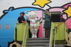 EVA Air Hello Kitty Houston Celebration (AirlineReporter.com) Tags: evaair evaairlines boeing777300er hellokitty hellokittyeva houston iah houstonintercontinental georgebushintercontinentalairport shiningstar shiningstarlivery hellokittylivery b16722