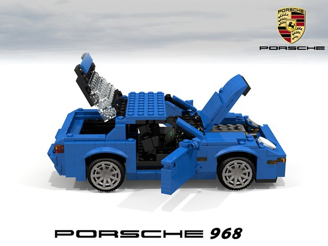 auto sports car germany model lego stuck render german 1992 coupe challenge 92 1990s 90s cad sportscar lugnuts povray 968 moc porshe ldd miniland lego911 stuckinthe90s
