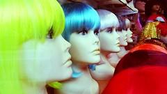 pretty creepy (elkstress) Tags: pretty mannequins creepy wigs windowshopping