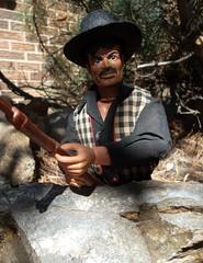 Butch Cavendish, Outlaw and Bushwacker (atjoe1972) Tags: gabriel vintage movie toys actionfigure tv cowboy mask retro thief 1970s seventies wildwest frontier outlaw loneranger bushwacker oldwest butchcavendish atjoe1972