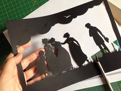 Sense and Sensibility - final silhouette (tanaudel) Tags: silhouette illustration paper cut process janeausten senseandsensibility