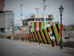 Edmund Gardner pilot boat painted as a Dazzle ship, Albert Dock, Liverpool, England (PaChambers) Tags: uk england liverpool dazzle mersey merseyside edmundgardnerpilotboat