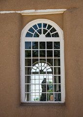 Window at San Francisco de Asis Mission Church (Snap Man) Tags: newmexico church unitedstates taos 2015 taoscounty nikond600 sanfranciscodeasismissionchurch byklk