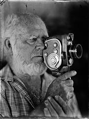 Old cameraman (Nagy Krisztian) Tags: portrait negative wetplate collodion
