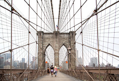 Brooklyn Bridge (usama.hamidn) Tags: new york city trip travel bridge light sunset shadow vacation sky usa sun ny building art water lines skyline architecture brooklyn clouds america skyscraper river square geotagged pier boat us nikon cityscape cross outdoor geometry manhattan steel united von pillar cable rope structure symmetry ponte east cables pile processing highrise infrastructure vehicle column states railing amerika philipp rectangle hdr staaten klinger vereinigte of estaiada d700 dcdead