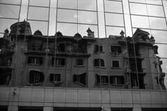 Reflexes and Distortions of Lisbon by Yashinon lens... (Ninoo Vita) Tags: yashicaelectro35gtn yashica electro gtn rangefinder yashinon fujiacros100 fuji acros neopan rodinal r09 epsonv750 epson lisbon lisboa black • darkened dim dingy drab gloomy misty murky overcast shadowy somber emozioniinbiancoeneroemotionsinblackandwhite schwarzweiss schwarz weis white photography nocolor blackwhitepassionaward lightsandshadows lights shadows yourperspectiveandcreative inspirationalphotography monochromia ishootfilm blackwhitephotos