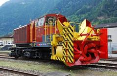 Erstfeld 09.09.2007 (The STB) Tags: erstfeld sbb cff ffs swissrailways lokomotivdepotsbb 125jahregotthardbahn gottardo125jahre gottardo125ans 125yearsgottardo heritagetrain schneeschleuder