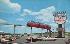 Dutch Wonderland, Lancaster, Pennsylvania (SwellMap) Tags: postcard vintage retro pc chrome 50s 60s sixties fifties roadside midcentury populuxe atomicage nostalgia americana advertising coldwar suburbia consumer babyboomer kitsch spaceage design style googie architecture
