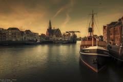 Het Psalmenoproer, Maassluis - The Netherlands (Dennis van Dijk) Tags: maassluis netherlands nederland holland sunset waterscape water lansdscape cityscape moody tones colors beauty furie