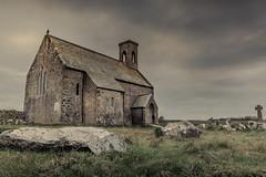 Flimston Chapel (garethleethomas) Tags: church moody landscape pembrokeshire chapel wales uk canon sky clouds grey winter outdoor serene building architecture