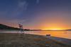 Echando de menos el verano (Alfredo.Ruiz) Tags: lifeguard chair ullibarriganboa alava sunset sky colored nature night stars lake landscape