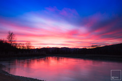 Sunset (NC Atelier) Tags: longexposure canon eos sky beautiful red blue cloud cloudporn nisi nisifilters v2 sunrise sunset long eos750d 1855 18mm shoot fantasticshoot cielo lake lago ghiaccio frosted iced winter wintershoot f22